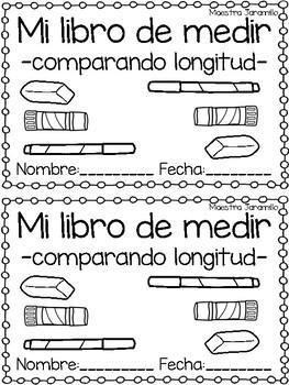 Mi libro de medir - comparando longitud y altura
