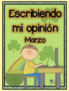 Mi libro de opiniones Marzo: ¡Decide, Opina y Escribe!