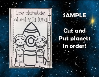 Mi libro de planetas: A Mini Tab Booklet