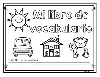 Mi libro de vocabulario del abecedario-My Alphabet Vocabulary Book Spanish