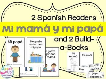 Mi mamá y mi papá Spanish Reader & Build-A-Book about moth