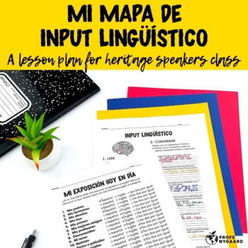 Mi mapa de input lingüístico: a lesson for heritage speakers