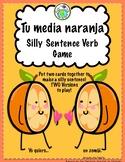 Mi media naranja Silly Sentence Verb Game for Spanish class Present Tense