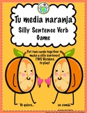 Mi media naranja Silly Sentence Verb Game for Spanish clas