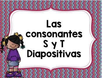 Las consonantes S y T, Diapositivas- Letters S & T Spanish PowerPoints
