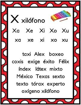 Mi mundo de las consonantes W, X,Y,Z -Actividades
