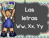 Actividades Con Las Letras W, X, Y, Z- Spanish Activities Letters W, X, Y & Z