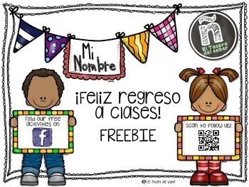 Mi nombre - Back to School Name Activity in Spanish - FREEBIE