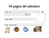 Mi pagina del calendario