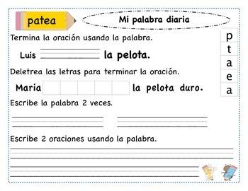 Mi palabra diaria/ daily word