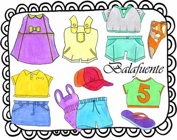Spring and summer clothes clip art