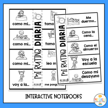 My daily Routine in Spanish Activity Pack - Mi Rutina Diaria