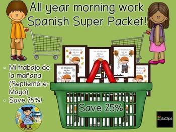 Mi trabajo de la mañana (ALL YEAR SUPER PACK) Spanish version