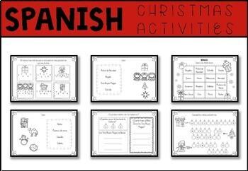 Mi vocabulario de Navidad –  Christmas Vocabulary and Activities in Spanish