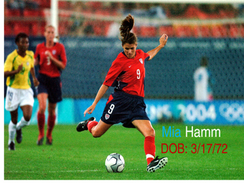 Mia Hamm- Biography of a famous female soccer player