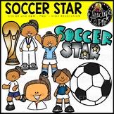 Soccer Star Clip Art Set {Educlips Clipart}