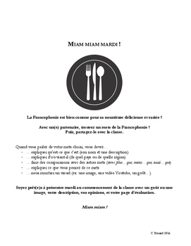 Miam miam mardi! - A communicative mini-project exploring