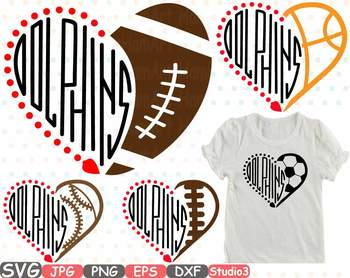 Miami Dolphins clipart NFL nba mlb ncaaf sports School svg Sayings 722s