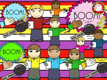 Mic Drop Kids Clipart (Personal & Commercial Use)