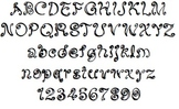 Micah's Swirly Font