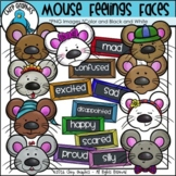 Mouse Feelings Faces Clip Art Set - Chirp Graphics