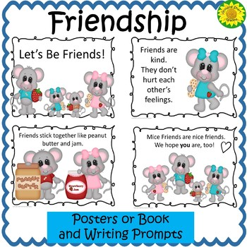 Friendship Posters and Writing-Free