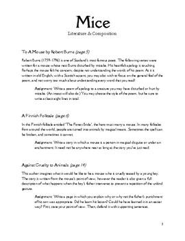 Mice Literature & Composition