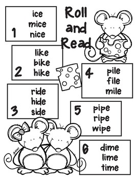 Mice Long i CVCe Roll and Read