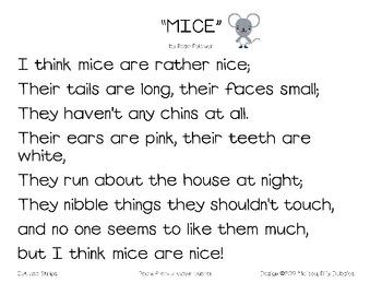 Mice Poem Pack
