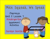 Mice Squeak, We Speak Journeys  Kindergarten Unit 2 Lesson 7  Supp. Act.