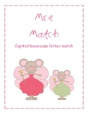 Mice Word Work Activity- Capital Lowercase Letter Match