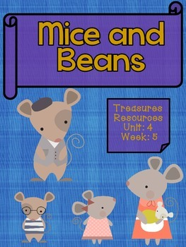 Mice and Beans Focus Wall and Centers Second Treasures Common Core Alligned