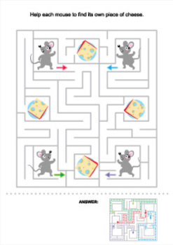 Mice and Cheese Maze, Commercial Use Allowed