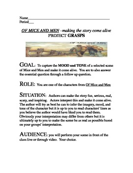 Mice and Men Unit Plan