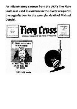 Michael Donald 1981 KKK Killing Word Search
