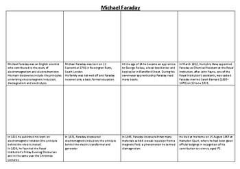 Michael Faraday Comic Strip and Storyboard