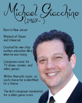 Michael Giacchino composer printable poster