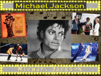 Michael Jackson: 25 slides with text, hyperlinks, primary sources, & handouts)