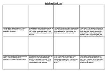 Michael Jackson Comic Strip and Storyboard