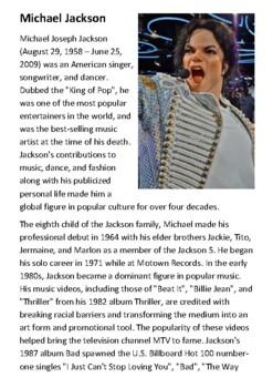 Michael Jackson Handout