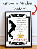 Michael Jackson King of Pop Music Growth Mindset Poster for Classroom Teachers