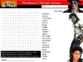 Michael Jackson Wordsearch Black History Month Keywords Music Musician