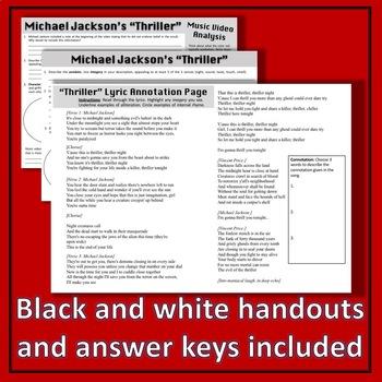 Michael Jackson's Thriller Music Video Analysis
