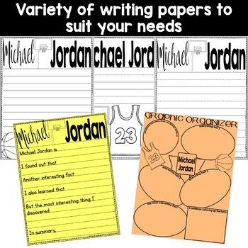 Michael Jordan Basketball Craft Activity (Black History; Sporting Legends)