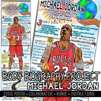 Michael Jordan, Black History, Athlete, Philanthropist, Body Biography Project