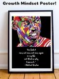 Michael Jordan Chicago Bulls 23 NBA Basketball Growth Mind