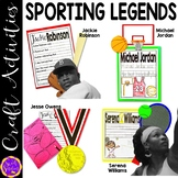 Serena Williams, Jackie Robinson, Jesse Owens, Michael Jordan (Black History)