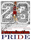 Determination Motivational Poster: Michael Jordan Failure Leads to Success