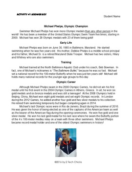 Michael Phelps, Olympic Champion--Word Processing and Editing Practice
