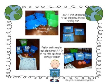 Michael Recycle Earth Day Common Core Math Centers